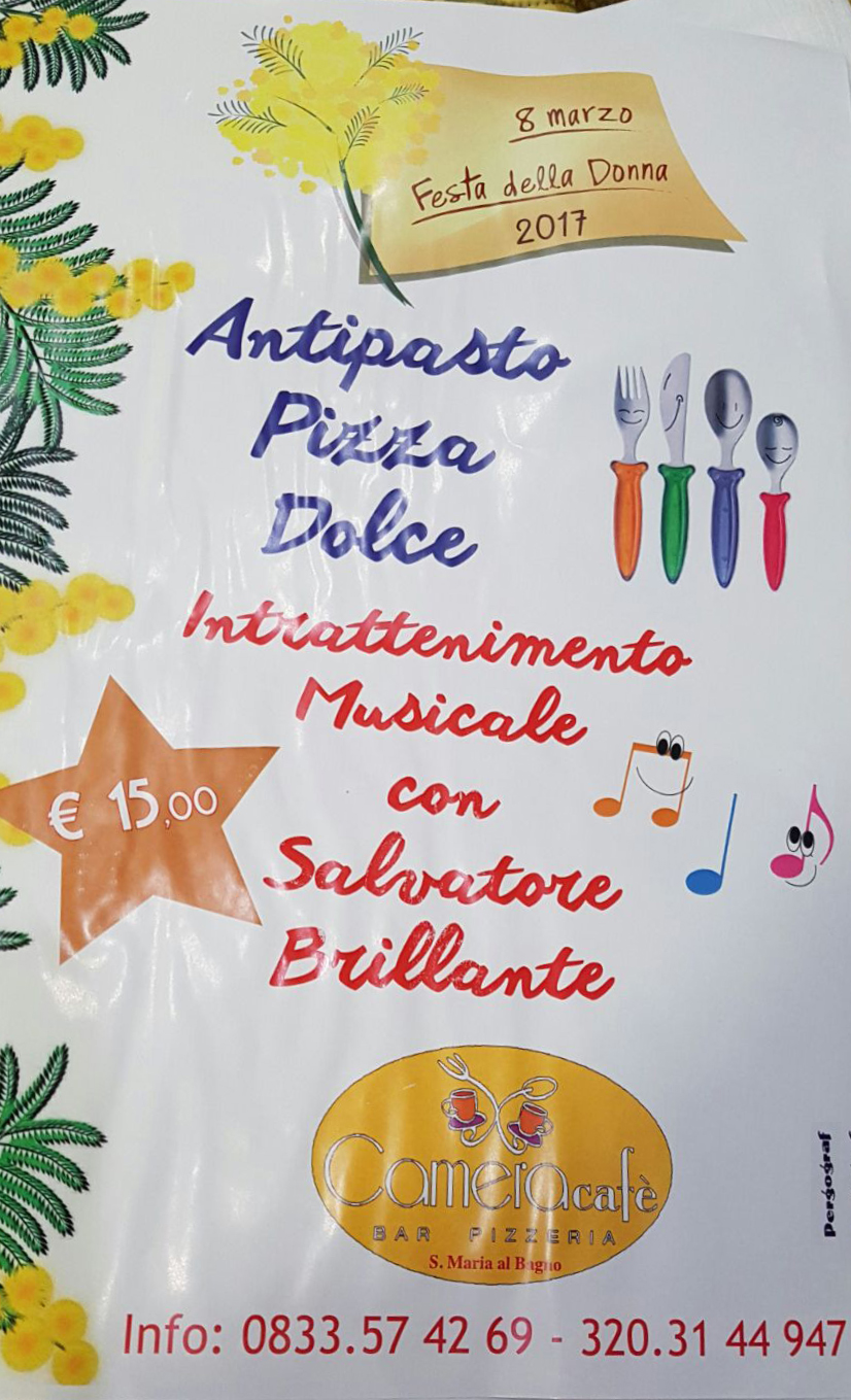 Festa della donna con salvatore brillante b b camera caf 2 bed and breakfast santa maria al - Camera cafe santa maria al bagno ...